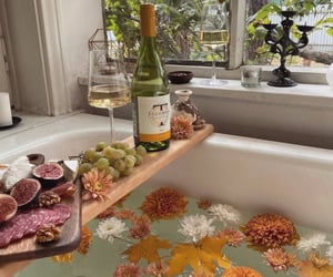 bathtub, home, and fresh taste image