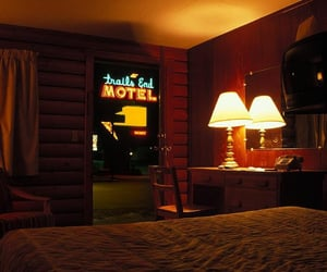 motel, neon, and room image
