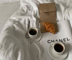 coffee, bed, and chanel image