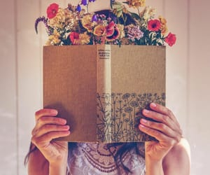 book, creative photography, and flower image