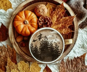 autumn, decorations, and leaves image