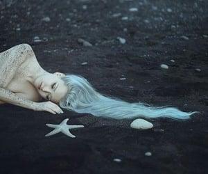 mermaid, starfish, and fairytale image