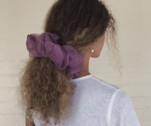hairstyle, curly hair, and girl image
