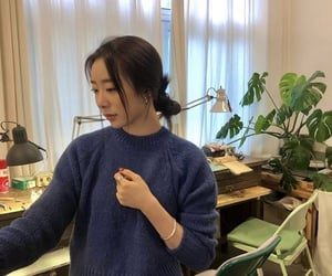 blue, plants, and yeonjung image