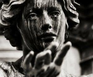 art, dark, and statue image