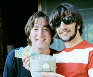 60s, ringo starr, and beatles image