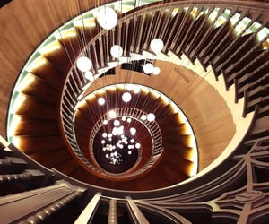 brown, spiral, and stairway image