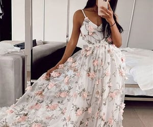 dresses, prom dress, and style image