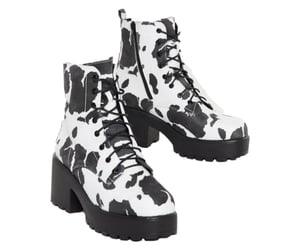 png, shoes, and cow print image