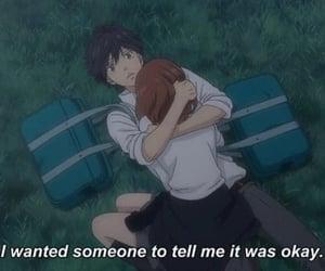 anime, couple, and ao haru ride image