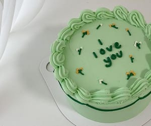 aesthetic, cake, and green image