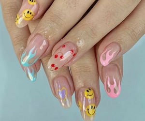 nails, cherry, and flames image