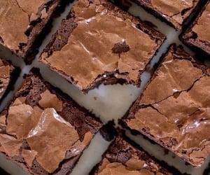 food, brownies, and chocolate image