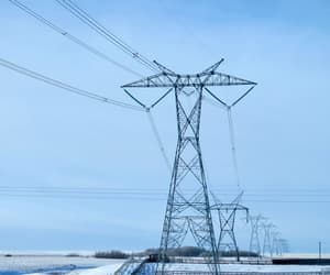 cold, frost, and powerline image