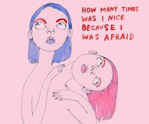 drawing, pink, and quote image