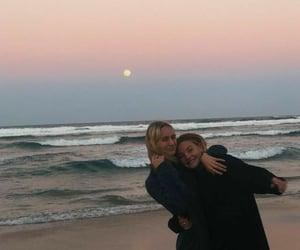 beach, sea, and friendship image