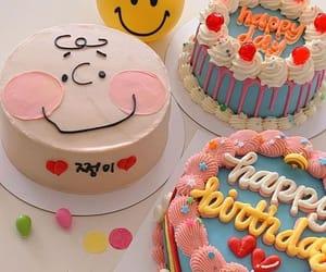 cake, birthday, and cherry image