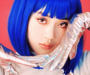 blue, futurism, and girl image