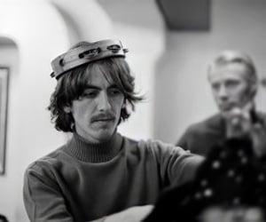 60s, george harrison, and john lennon image