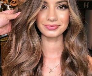 brown, makeup, and hair image