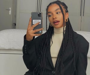 braids, aesthetic, and fashion image