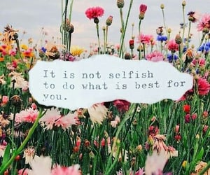flowers, saying, and words image