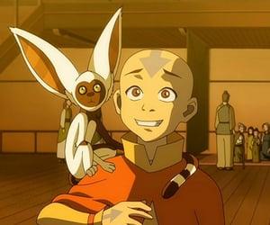 avatar, momo, and aang image