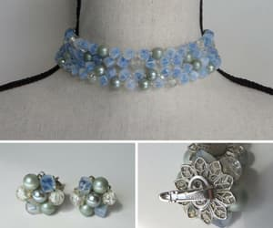 1950's, bridal jewelry, and pale blue image
