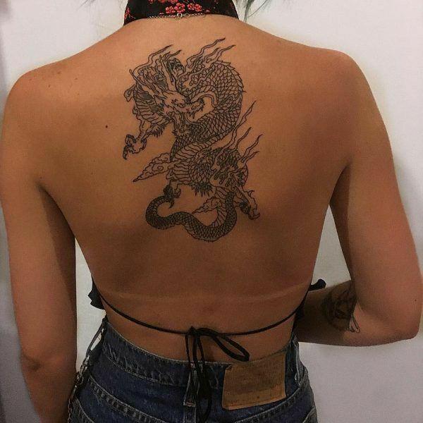 tattoo, dragon, and body image