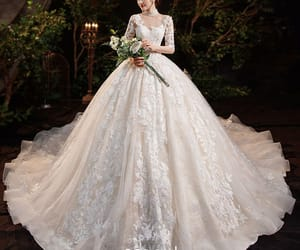 bride, bridal, and bridal gown image