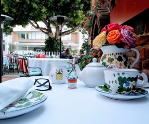 breakfast, roses, and beverlyhills image
