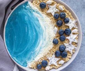 blue ocean, bereakfast, and smoothie bowl image