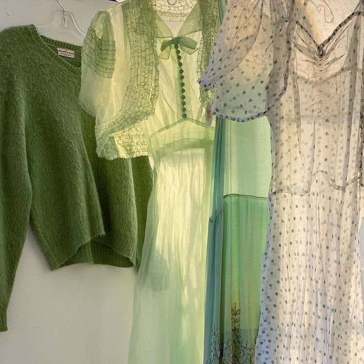 green, aesthetic, and dress image