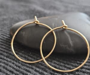 etsy, gold hoop earrings, and minimal jewelry image