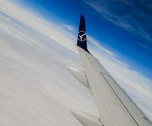 clouds, plane, and wwa image