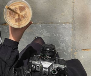 coffee, camera, and aesthetic image