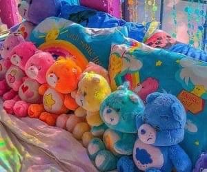 aesthetic, rainbow, and kidcore image