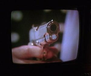 tv, gun, and vintage image
