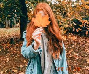autumn, girls, and long hair image