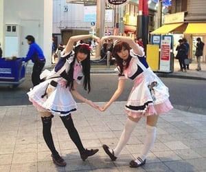 maid, japan, and heart image