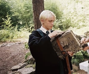harry potter, draco malfoy, and slytherin image
