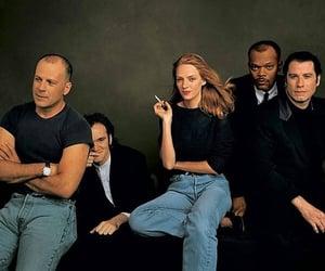 bruce willis, John Travolta, and samuel jackson image