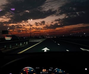 sunset and car image