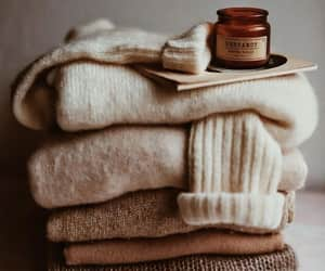 autumn, sweater, and candle image