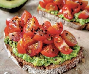 food, avocado, and tomato image