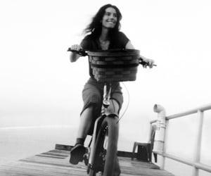 bike, black and white, and fashion image