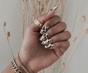 fashion, brown, and nails image