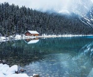 snow, winter, and lake image