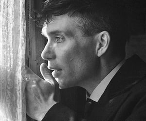 cillian murphy, gangster, and black and white b&w image