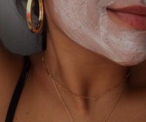 beauty, girl, and mask image